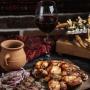 Wine and dish pairing. The variant 1/ღვინისა და კერძის შეხამება.  ვარიანტი 1/ Сочетания вина и блюда. Вариант 1
