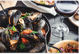 Wine and dish pairing. The variant 2/ღვინისა და კერძის შეხამება. ვარიანტი 2/ Сочетания вина и блюда. Вариант 2